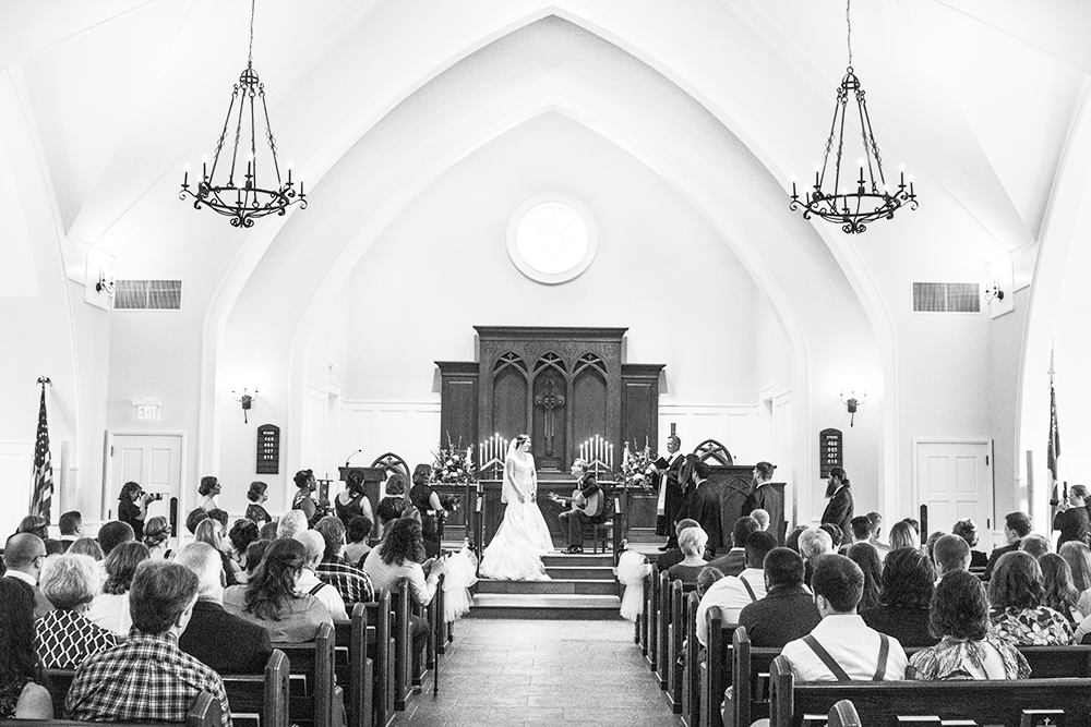 black and white wedding church | Annie Elise Photography Investment