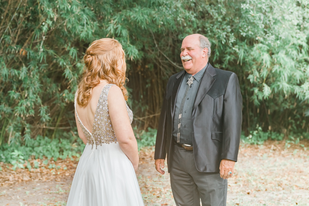 Gulfport Beach wedding | Annie Elise Photography | First look with dad
