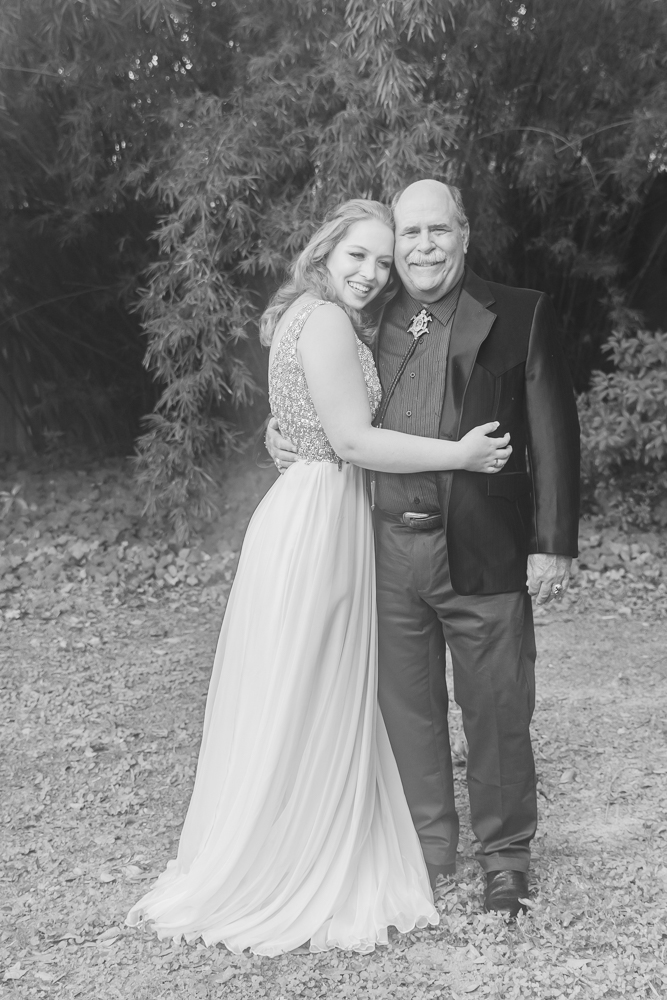 Gulfport Beach wedding | Annie Elise Photography | Black and white portrait with dad
