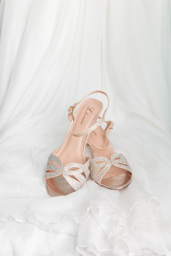 Gulfport Beach Wedding | Shoes | Annie Elise Photography