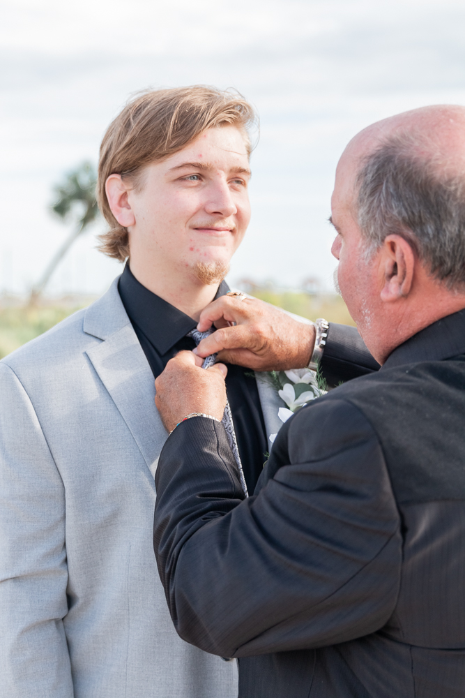 Gulfport Beach Wedding | Annie Elise Photography | Groom Getting ready