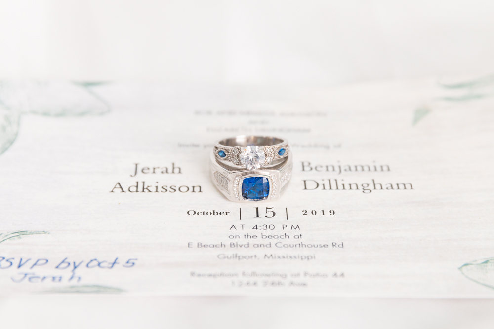 Gulfport, MS Beach Wedding | Invitation and Ring Shots | Annie Elise Photography
