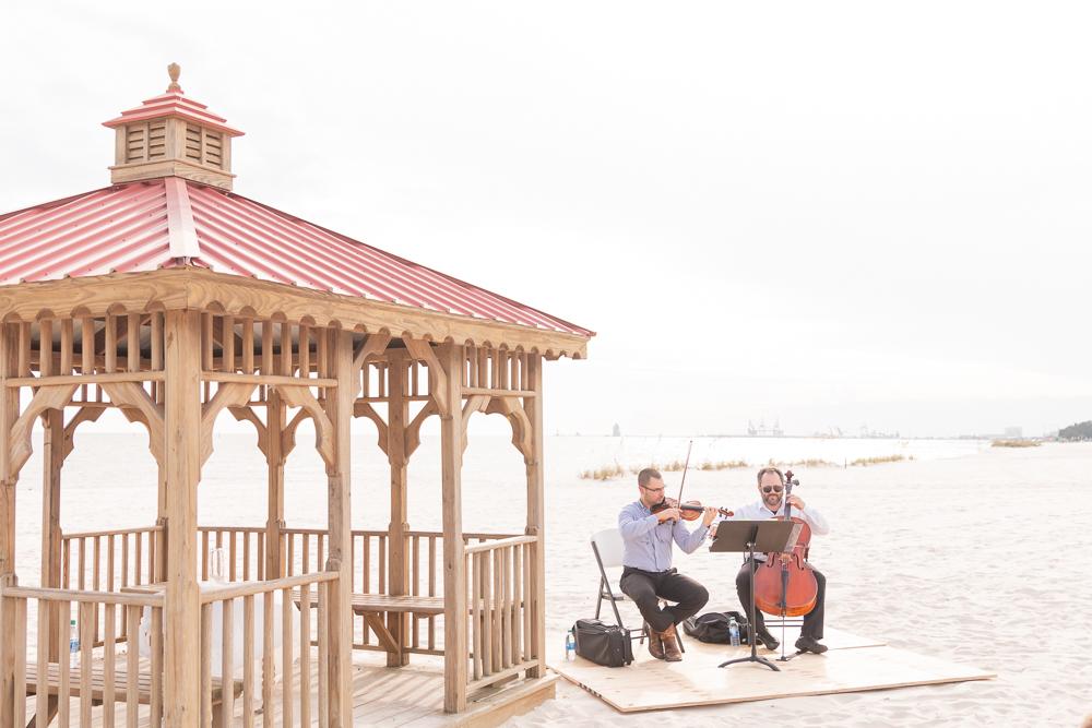 Gulfport Beach Wedding | Annie Elise Photography | Musicians | Gulf Coast Symphony