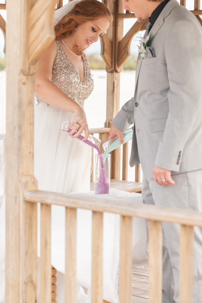 Gulfport Beach Wedding | Annie Elise Photography | unity sand pouring