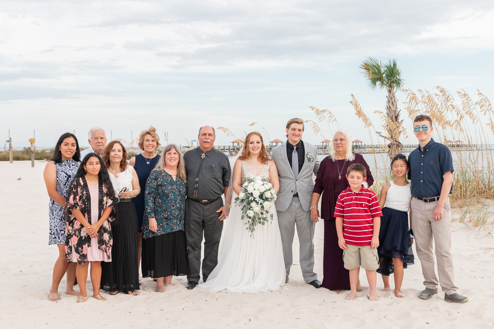 Gulfport Beach Wedding | Annie Elise Photography | Family formal
