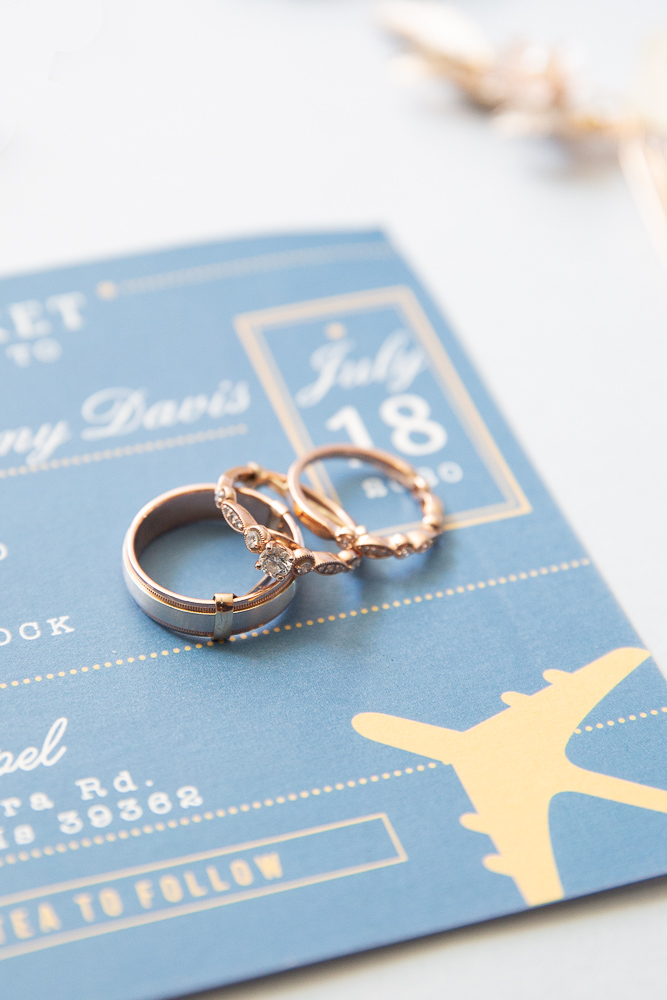 Annie Elise Photography | Travel themed wedding | Wedding bands | Engagement Ring