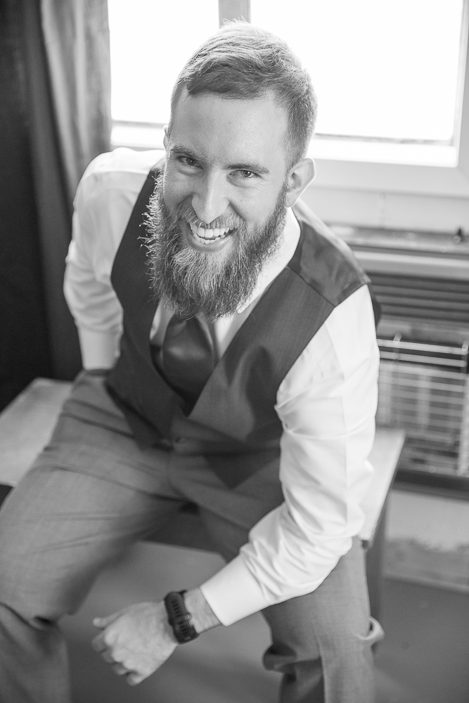 Annie Elise Photography | Groom Portrait |Black and White | Dusty Blue Wedding Color |