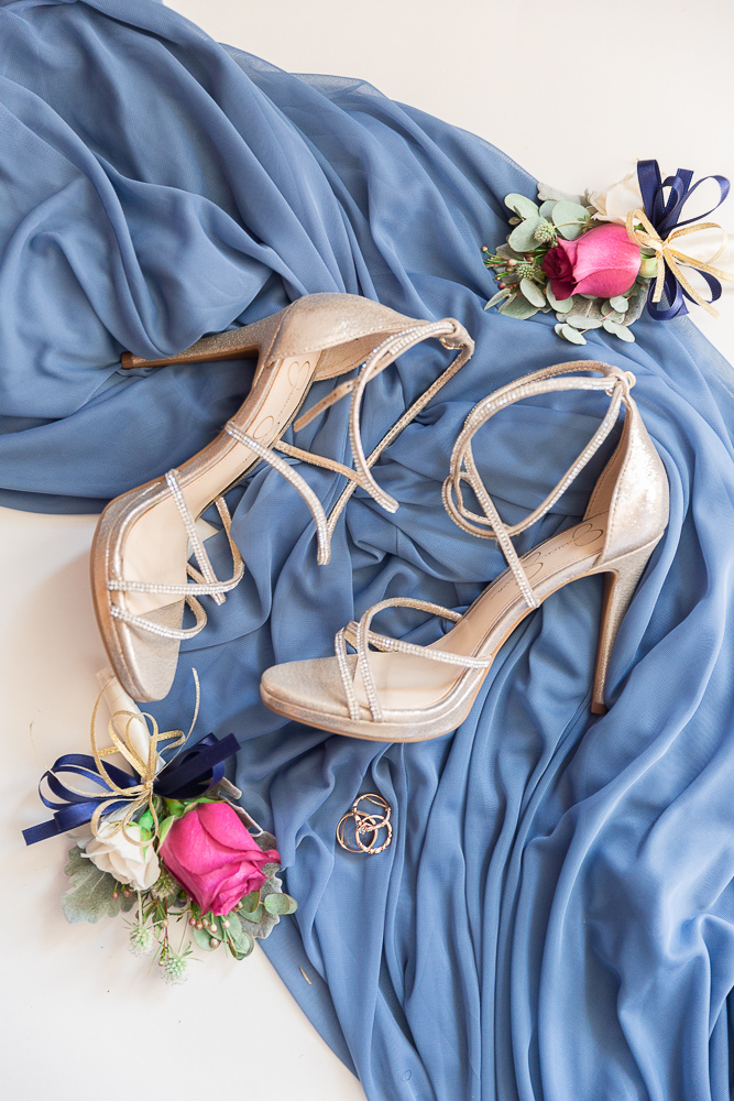 Annie Elise Photography | Mississippi Wedding | Bride detail  | Dusty Blue Wedding Color | Wedding Shoes
