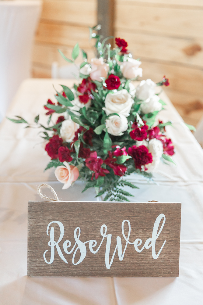 Annie Elise Photography | The Stables Venue | Vancleave, MS | Wedding Sign | Dusty Rose Color