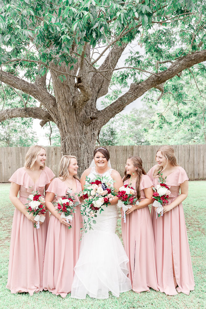 Annie Elise Photography | The Stables Venue | Vancleave, MS | Rustic Barn Wedding | Bridesmaids