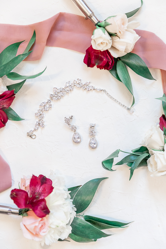 Annie Elise Photography | The Stables Venue | Vancleave, MS | Rustic Barn Wedding | Boutonnieres | Bride's jewelry