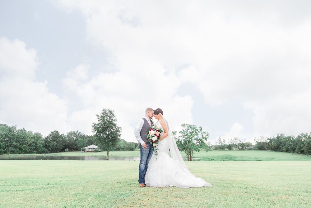 Annie Elise Photography | The Stables Venue | Vancleave, MS | Bride and Groom Portrait