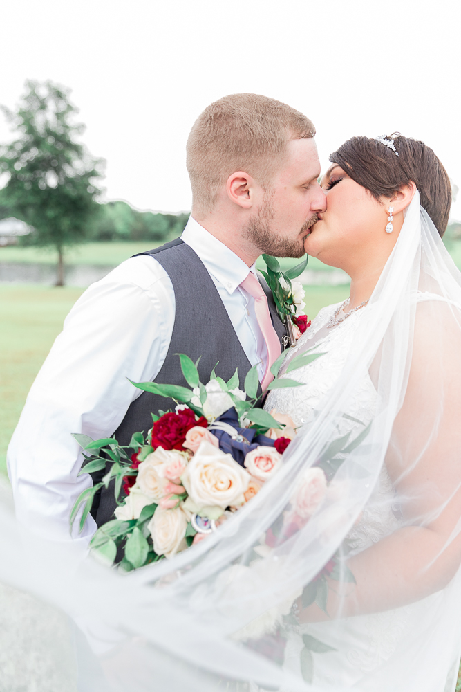 Annie Elise Photography | The Stables Venue | Vancleave, MS | Wedding Portrait | Veil Shot