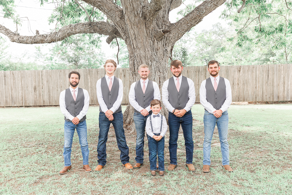 Annie Elise Photography | The Stables Venue | Vancleave, MS | Rustic Barn Wedding | Groomsmen in Vests