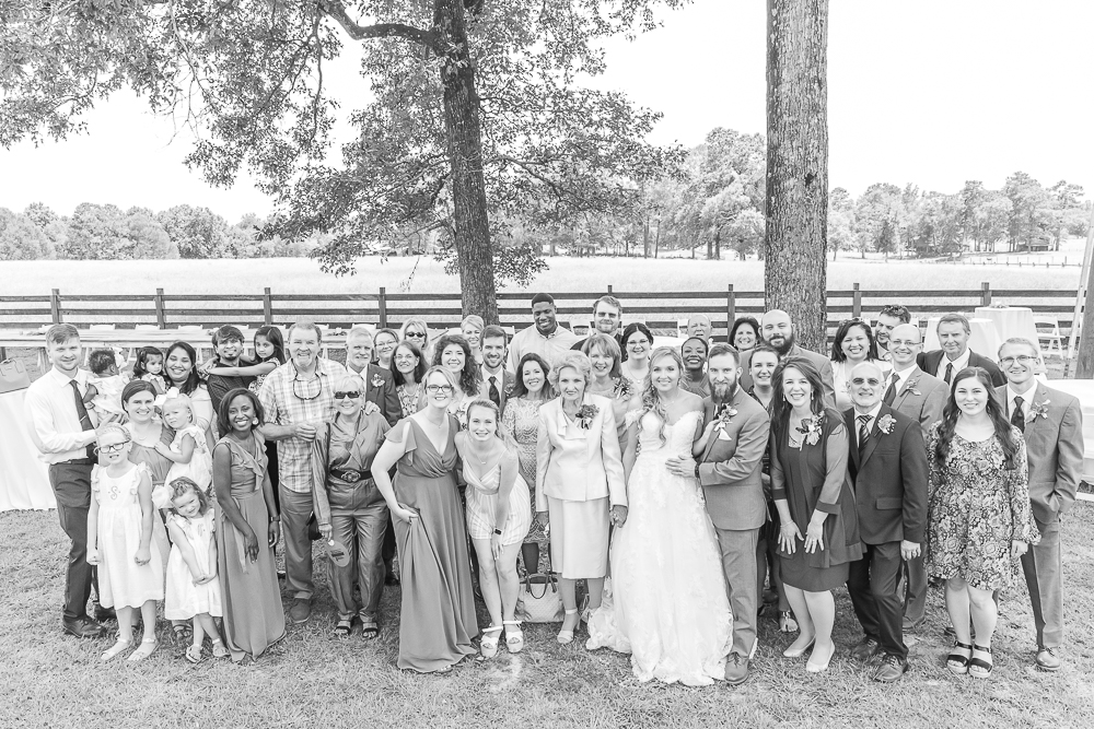 Mississippi Wedding Photographer | Family Formals | Generation photo | Wedding guests | black and white