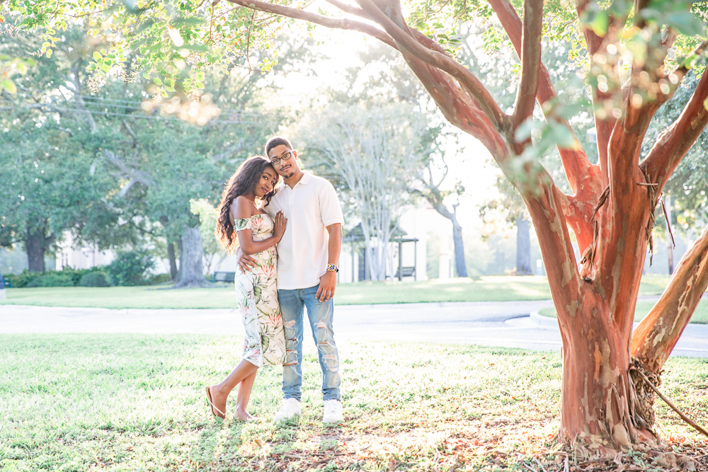 Long Beach Engagement Session | African American Couple | Navy Love | University of South Mississippi